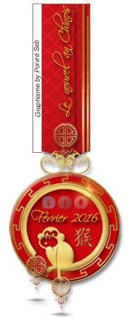 Médaille défi février 2016